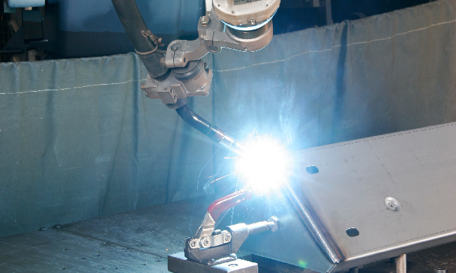 Robotic Welding at Ronson Manufacturing Corporation a Sheet Metal Fabricator in Kansas City Missouri